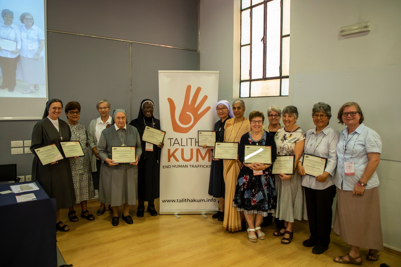 Ten sisters honored in Rome for their commitment to eradicating human trafficking in the world